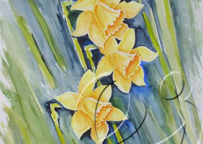 012062 Three daffodils
