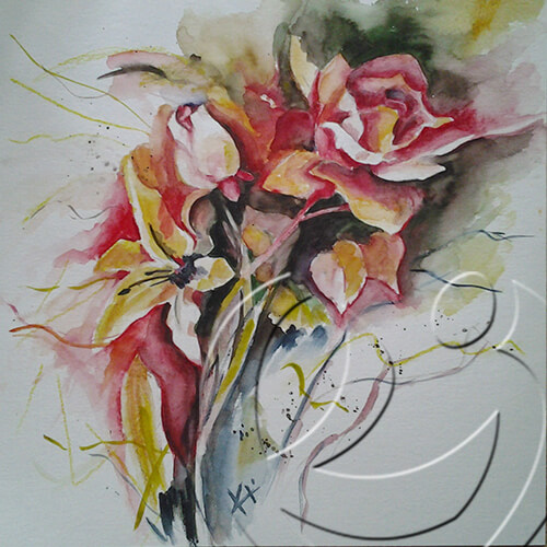 013068 Roses in Red