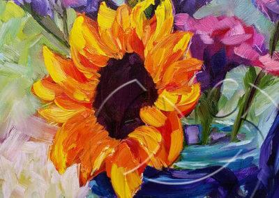 016128 Smiling sunflower