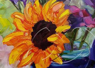 016129 Smiling sunflower