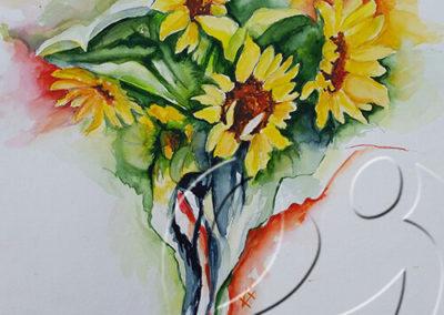 015102 Sunflower bouquet