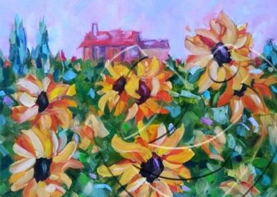 018219 sunflower field inTuscany