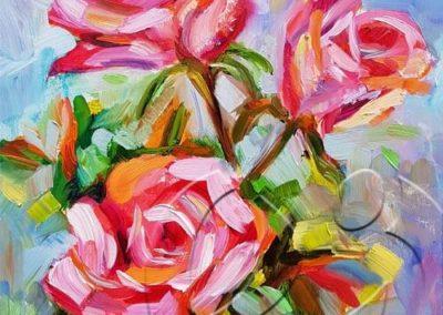 018236 Three roses