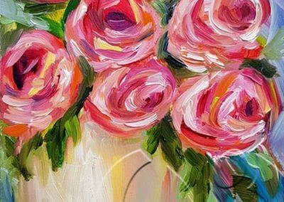 018237 roses in a vase