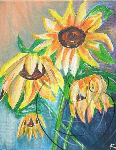 008019 Sad Sunflowers
