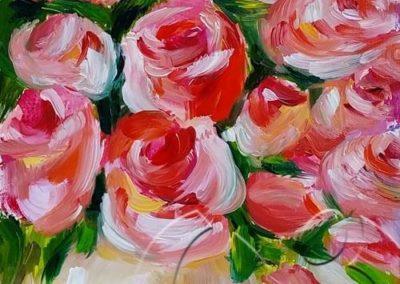 018222 Roses in a white vase