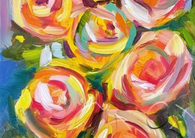 018234 Seven roses