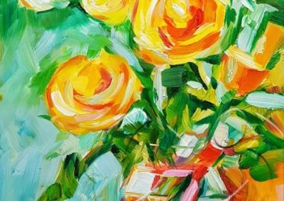 018242 Yellow roses