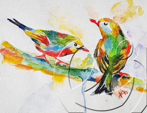 015085 loving birds