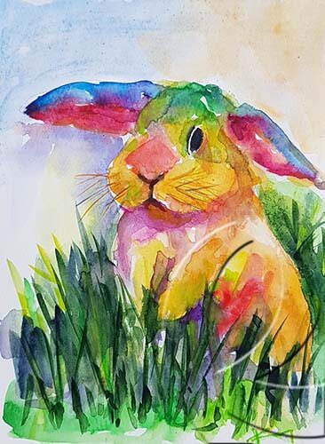 019279 colorful bunny