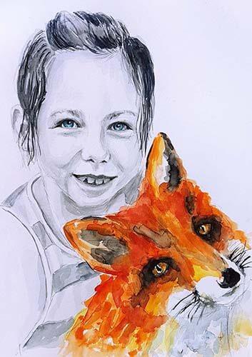 019311 Dóri and fox
