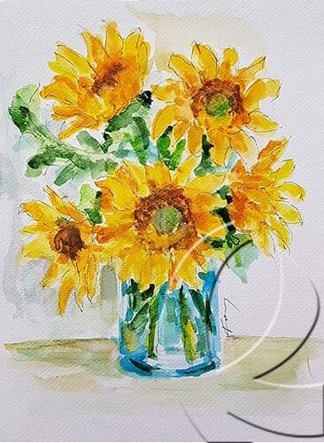 019315 sunflower bouquet