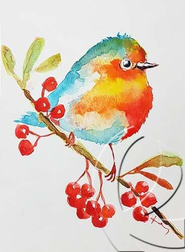 020355 bird and berries